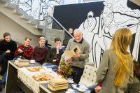 Literatūriniai pusryčiai su Donaldu Kajoku (reportažas)