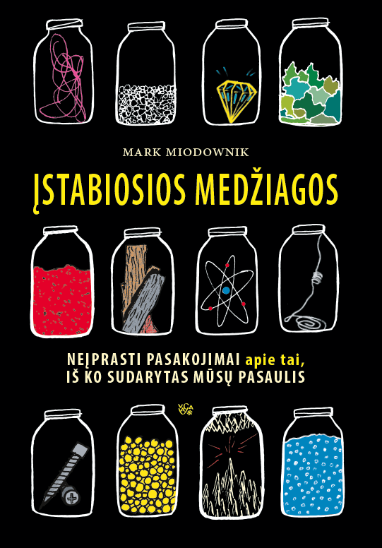"""Mark Miodownik. """"Įstabiosios medžiagos"""". Iš anglų k. vertė Jonas Čeponis. (Vilnius: Vaga, 2019)"""
