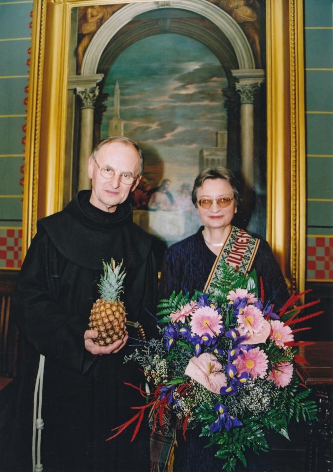 Rita Vinciūnienė su tėvu Severinu