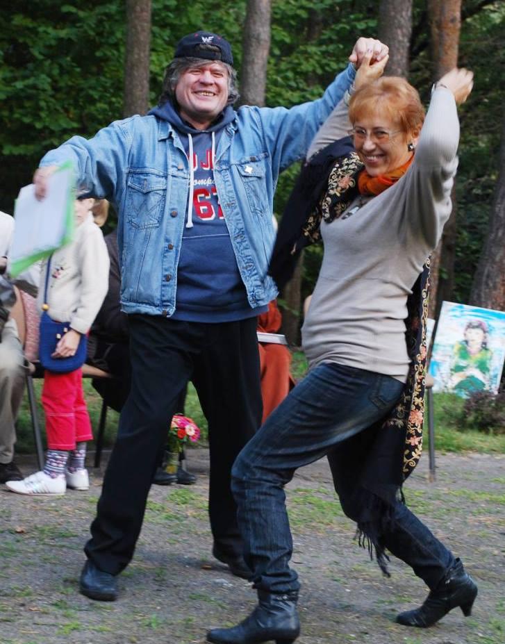 Rašytojai E. Janušaitis ir A. Ruseckaitė