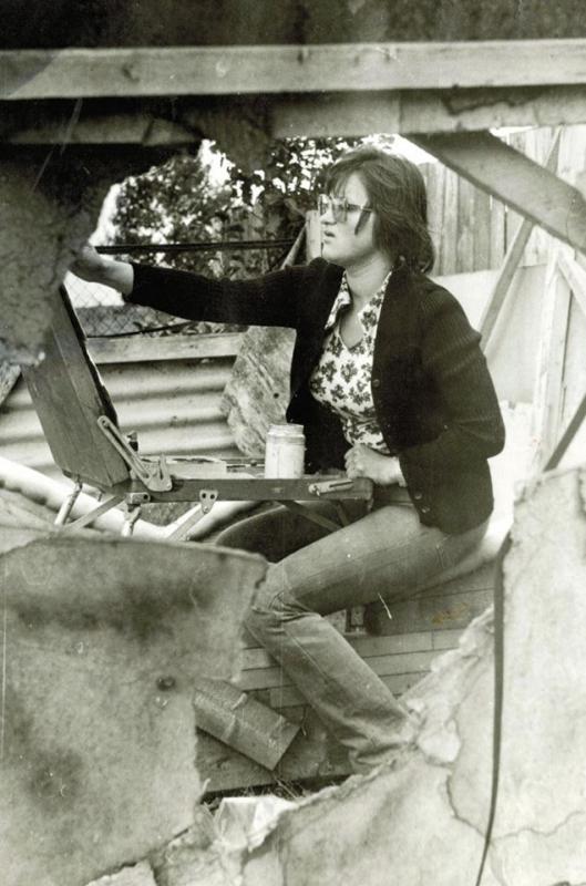 Violeta Židonytė. 1982-ieji, tapybos praktika Juodkrantėje
