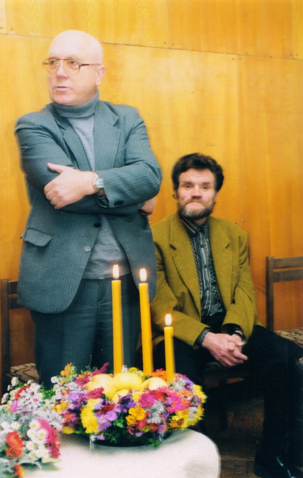 Petras Palilionis ir Vladas Vaitkevičius Joniškyje