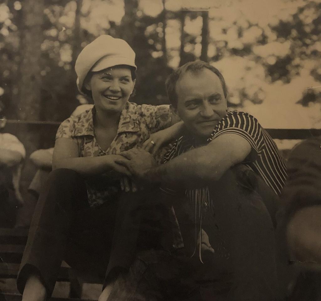 A. Dabulskis su žmona Irena
