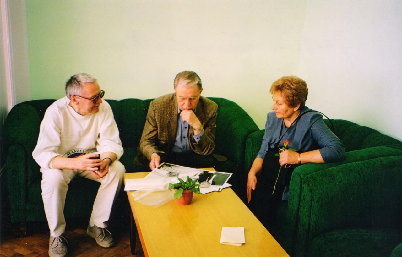 Justinas Marcinkevičius Kauno rašytojų buveinėje