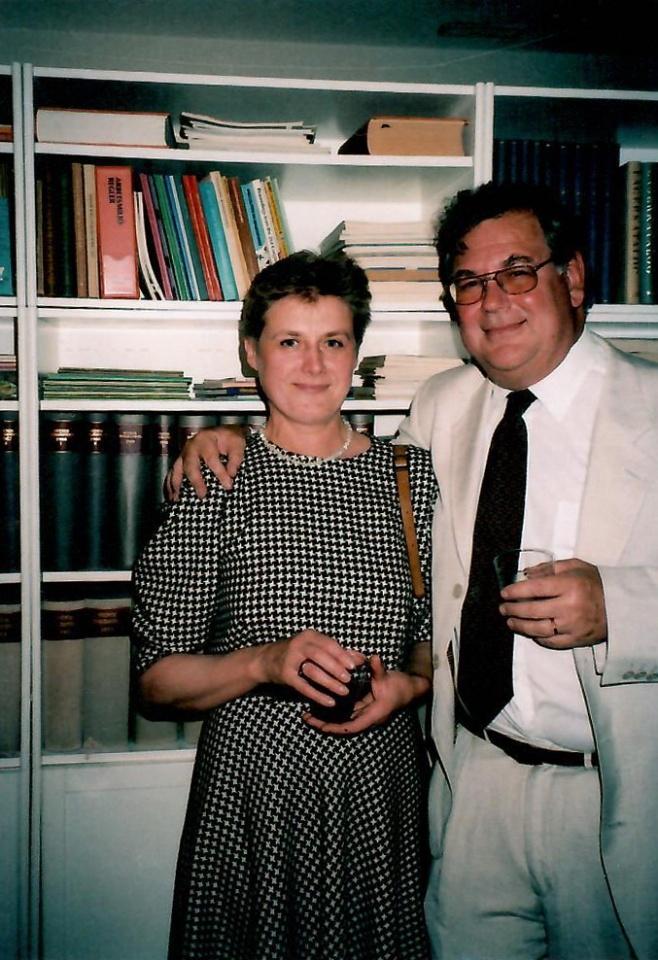 S. Gadliauskienė su P. Curmanu