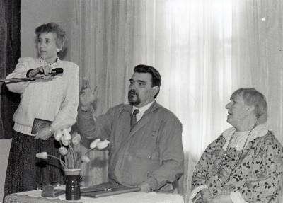 Aldona Ruseckaitė, Romualdas Granauskas ir Kazimiera Kymantaitė