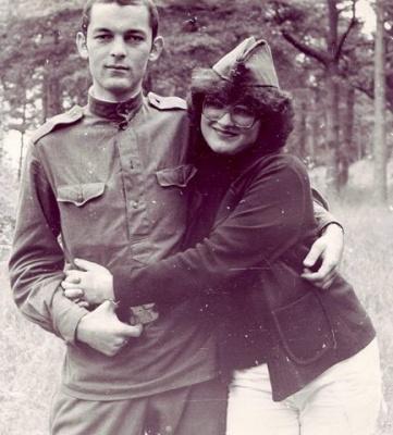 Violeta Židonytė su broliu