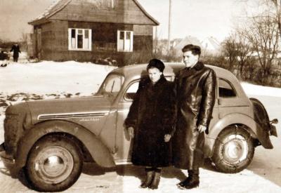 L. Zaleckis su žmona
