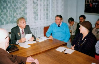 Kauno rašytojų susitikimas su Bernardu Brazdžioniu