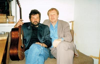 Dailininkas S. Mušinskas ir rašytojas V. Stulpinas