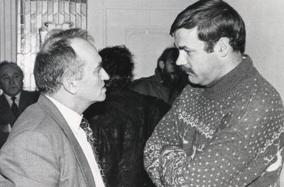 Aleksas Dabulskis ir Vidmantas Kiaušas-Elmiškis