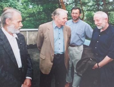 V. Baltuškevičius, Just. Marcinkevičius ir D. Kajokas