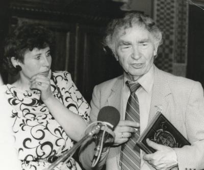 Aldona Ruseckaitė ir Bernardas Brazdžionis