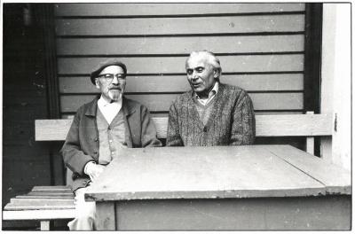 J. Grušas ir A. Gesenas Palangoje