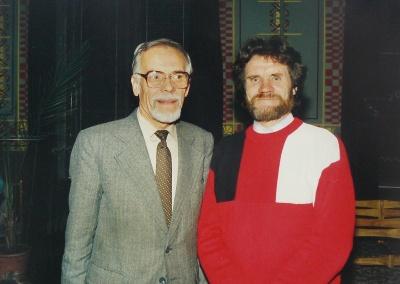 V. Vaitkevičius su V. Strazdeliu