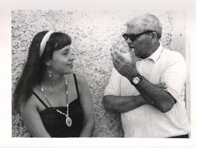 Jurga Ivanauskaitė su Alfonsu Bieliausku