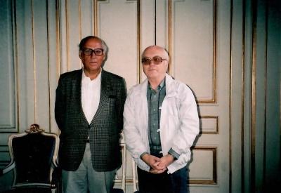 Rašytojai P. Palilionis ir Ö. Sjöstrandas