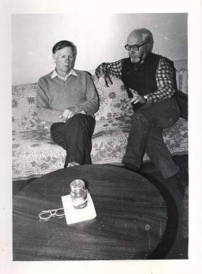 Petras Palilionis su Vasil Bykov