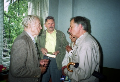 Bern. Brazdžionis, V. Čepliauskas, A. E. Puišytė ir M. Rakauskas