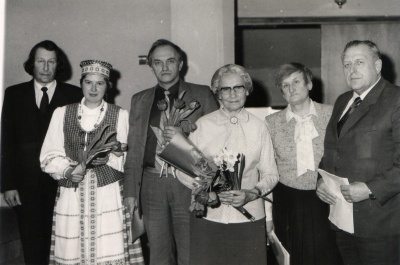 R. Klusas, J. Sučylaitė, A. Dabulskis, A. Kučinskaitė, prof. E. Stalioraitytė, prof. J. Blužas