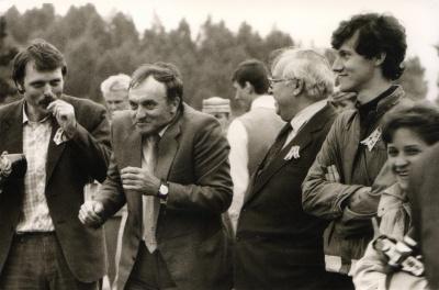 Poetai V. Rubavičius, A. Dabulskis, E. Matuzevičius ir V. Daunys