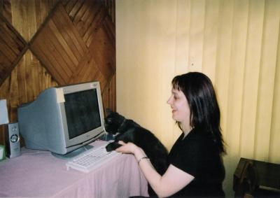 Rašytoja Lina Navickaitė namuose
