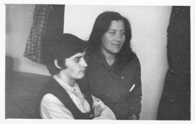 Poetės G. Cieškaitė ir D. Teišerskytė