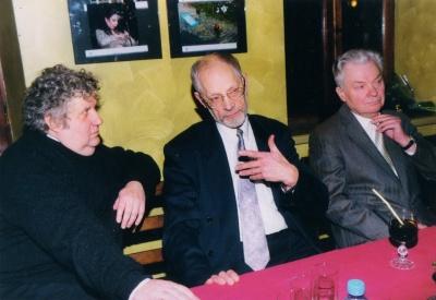 LRS Kauno skyriaus vadovai Algimantas Mikuta, Vytautas Martinkus ir Antanas Drilinga