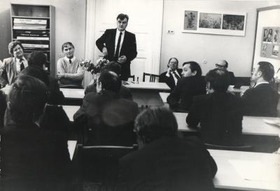 A. Mikuta ir R. Keturakis su Gardino rašytojais